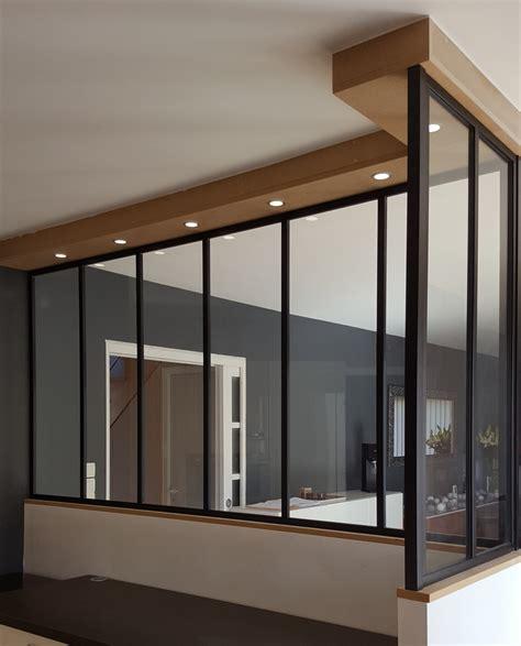 placard chambre sur mesure séparation intérieure style verrière atelier à nantes