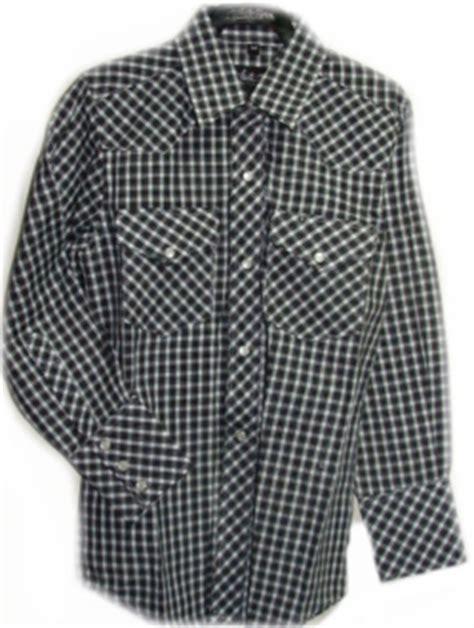 child pearl snap black  white plaid western shirt