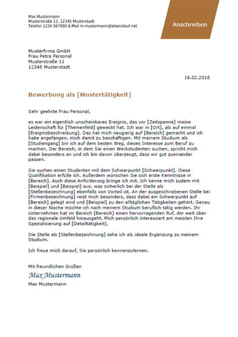 Bewerbungsunterlagen Muster by Bewerbungsschreiben Professionelle Vorlagen Muster 2019