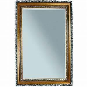 Amadeus Gold Leaf Frame Leaner Floor Mirror M2244BEC