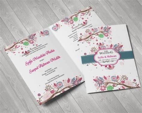 contoh undangan pernikahan unik  cantik kesan romantis
