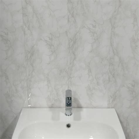 white marble pvc bathroom wall panels   day delivery