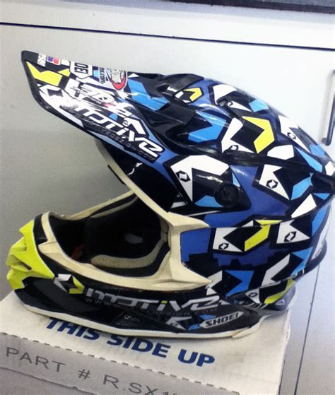 motocross helmet wraps just got my new helmet wrap moto related motocross
