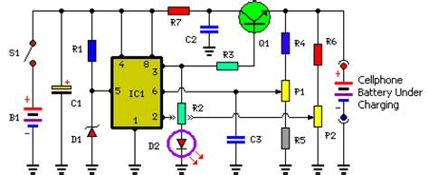 Mobile Cellphone Battery Charger Circuit Wiring Diagram