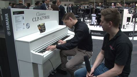 yamaha clp 675 musikmesse 2017 yamaha clavinova clp 675 digital piano