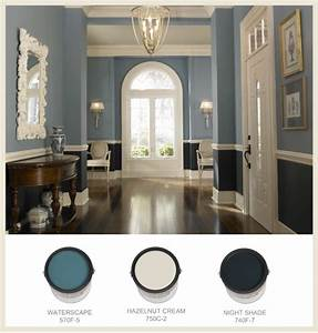Two-Toned Blue Entrance - Interiors By Color