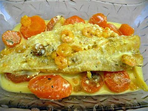 cuisiner les patissons blancs recette de poisson blanc à la crème de crevettes et carottes