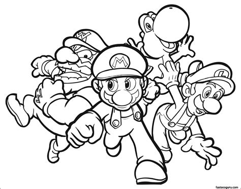 Printable Super Mario Characters Coloring Pages