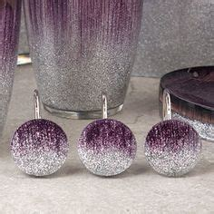 stardust purple bath collection shower curtain hooks by
