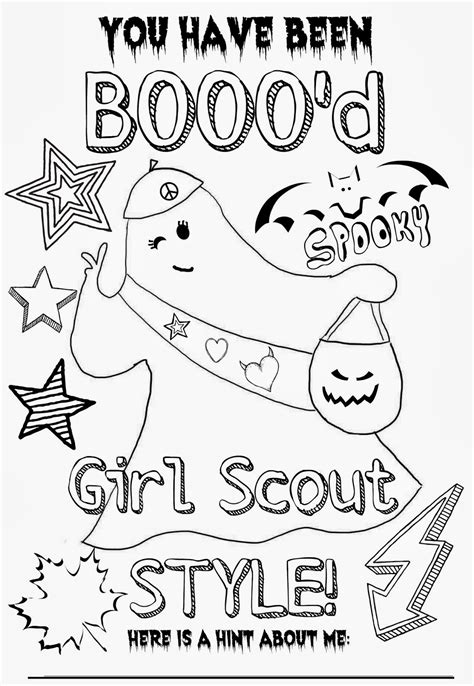 Junior Girl Scout Coloring Pages Sketch Coloring Page