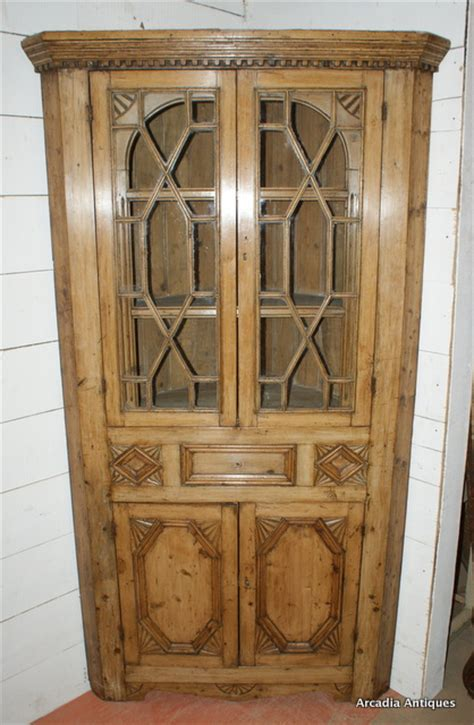 Pine Corner Cupboards by Pair Of Pine Corner Cupboards Antique Cupboards