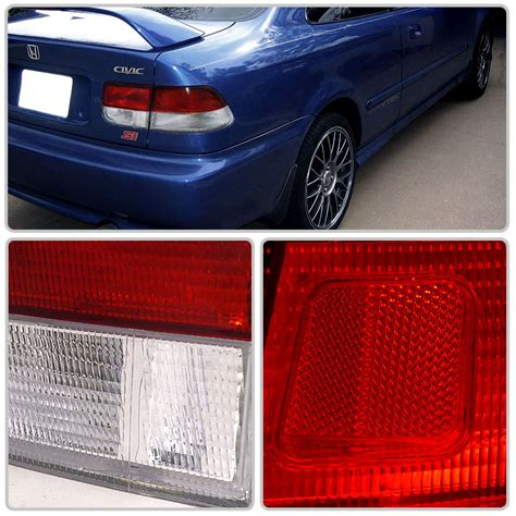 honda civic tail lights for sale 96 00 honda civic 2dr coupe jdm style red clear tail lights
