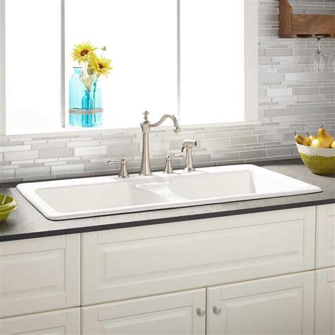 60 bathroom vanity 43 quot selkirk white bowl cast iron drop in kitchen