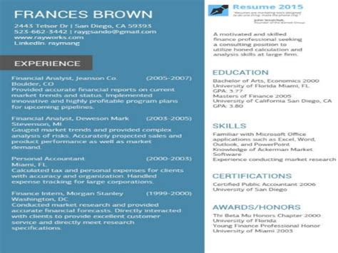 accountant resume exles 2015