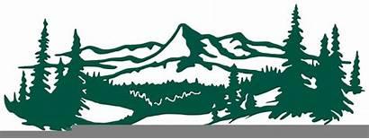 Mountain Svg Range Landscape Clipart Silhouette Clip
