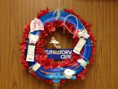 respiratory therapy christmas wreath complete  trach