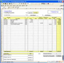 Expense Tracking Spreadsheet Template Excel