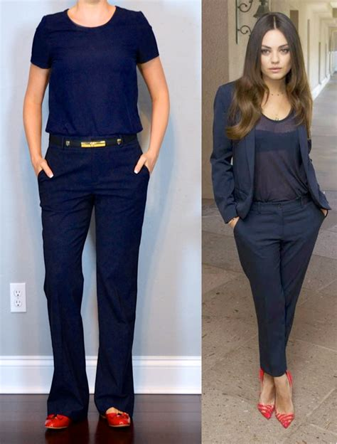 Navy Blue Pants Outfit For Women  Model Brown Navy Blue Pants Outfit For Women Example ...
