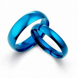 yourword blue matching his her wedding titanium promise With wedding rings with blue