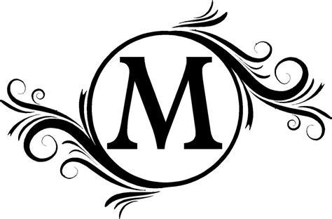 monogram letters monogram initials wall decals vinyl lettering wedding sticker art
