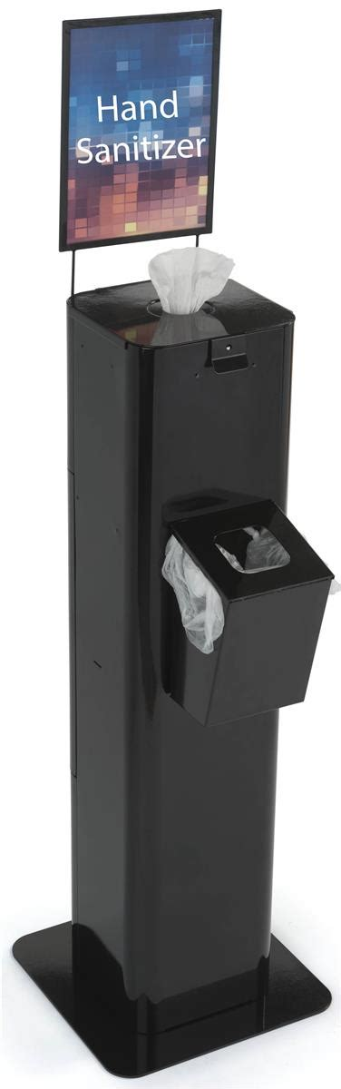 Hand Sanitizer Wipes Dispenser | Attached Trash Bin