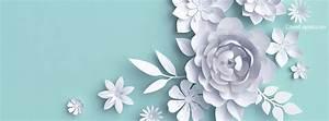 Light Blue and White Flowers Facebook Cover, Light Blue ...