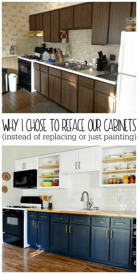 How To Reface Cabinet Doors - why i chose to reface my kitchen cabinets rather than