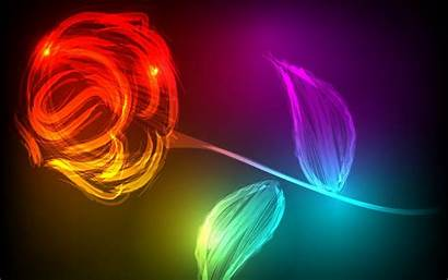 Colorful Digital Flowers Wallpapers 3d Abstract Rose