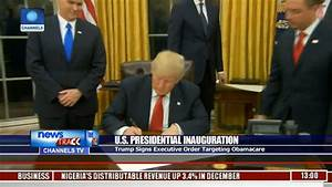 Trump Signs Executive Order Targeting Obamacare - YouTube