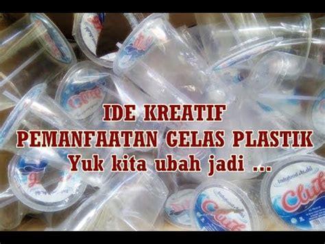 tips   membuat boneka kelinci  gelas plastik