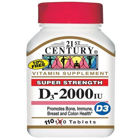 vitamin d l 21st century vitamin d3 strength 2000 iu 110
