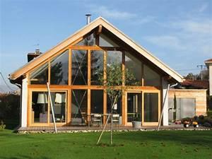 maison contemporaine basse energie a champagnier 38 With maison avec baie vitree