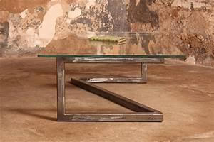 Table Basse En Acier : barnab design table basse m tis verre securit pi tement acier bross ~ Melissatoandfro.com Idées de Décoration