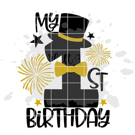 No physical products will be sent to you. My 1st Birthday - Boy Birthday SVG cut file - Scarlett ...
