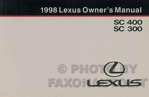1998 Lexus Es Sc And Ls Features Manual Original