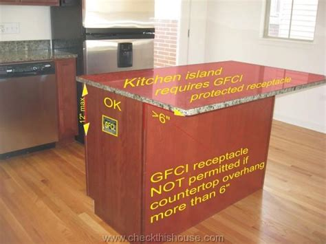 kitchen island spacing kitchen gfci receptacle and other electrical requirements