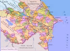 Large map of Azerbaijan Azerbaijan