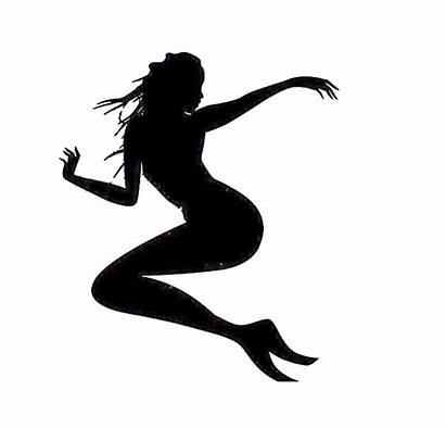 Silhouette Running Clipart Clip Transparent Library Mermaid