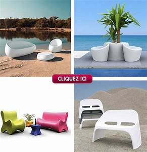 fauteuil chaise et table en plastique design a petit prix With ordinary mobilier de piscine design 0 piscines dexterieur at