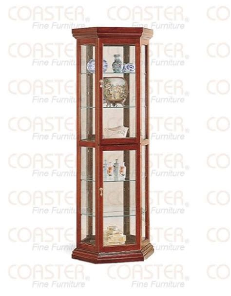 Coaster Curio Cabinet Assembly by Black Friday Coaster Solid Wood Corner Style Glass China