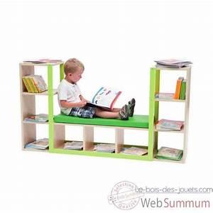 Meuble Bibliothèque Enfant : canap bibliotheque banc mobilier scolaire enfant equipement cr che et ecole ~ Preciouscoupons.com Idées de Décoration