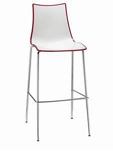 Barstuhl Sitzhöhe 65 Cm : zebra s bic 2560 stuhl aus verchromtem metall und zweifarbigem polymer sitzh he auf 65 oder 80 ~ Bigdaddyawards.com Haus und Dekorationen