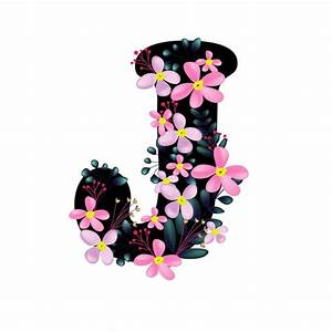 Beautiful Letter Templates Cute J Floral Font Alphabet Text Effect Eps For Free Download