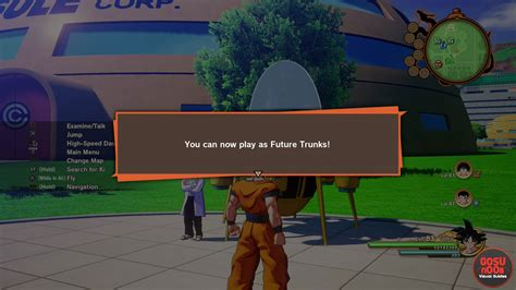unlock future trunks  playable character  dbz