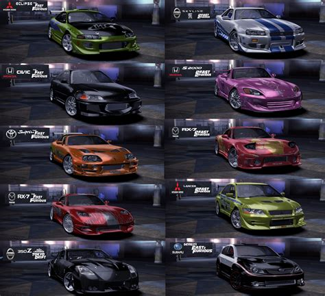 Cars List by Need For Speed Carbon Cars Nfscars