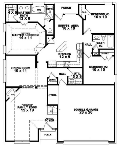 5650 3 bedroom house plans with photos simple house plan with 3 bedrooms and garage house floor