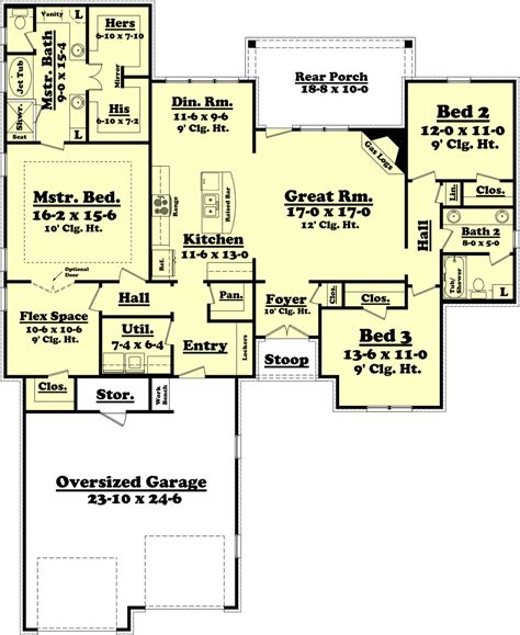 country floor plans ranch style house plan 3 beds 2 baths 2000 sq ft plan