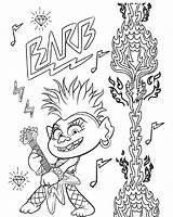 Trolls Coloring Barb Tour Queen Troll Printables Rock Ausmalbilder Coloriage Printable Poppy Techno King Branch Raskrasil Trollex Colorare Loves Kleurplaten sketch template