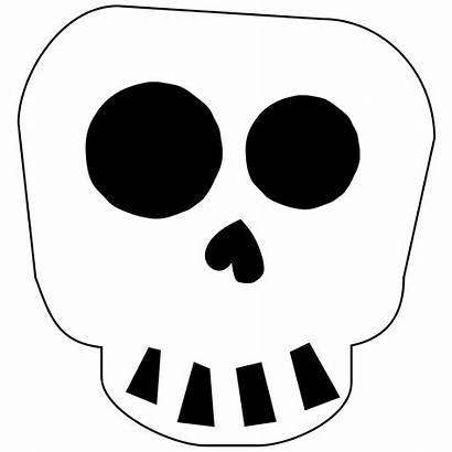 Skull Halloween Printable Banner Skeleton Decoration Template