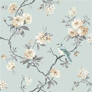 Fine Decor Chinoiserie Floral Wallpaper Teal (FD40765 ...
